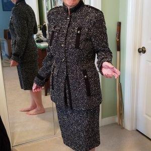 NWT Escada Boucle Skirt Suit